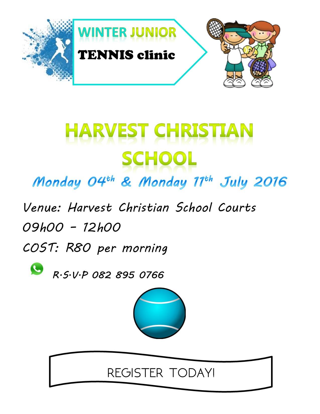 TENNIS CLINIC JULY 2016